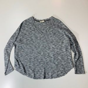 Anthro Sophie Rue Thermal Heather Grey Sweater Sm